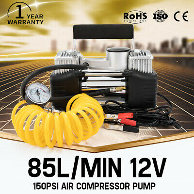 85L/MIN Car Air Compressor 12V 150PSI Tyre Inflator Pump 4x4 Portable