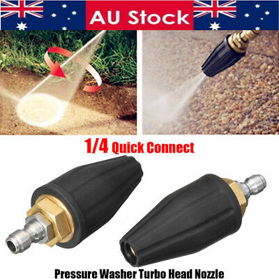 1/4'' 4.0 GPM Washer Turbo Spray Nozzle for High Pressure Water Cleaner 4000PSI