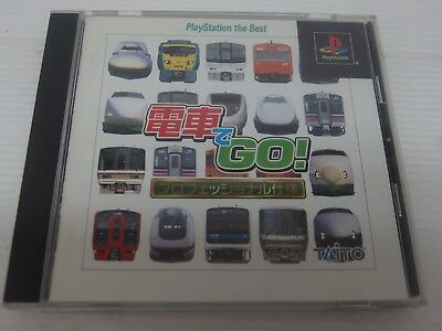 playstation 1 game DENSHA DE GO Professional PS Taito Japan PS2 PS1