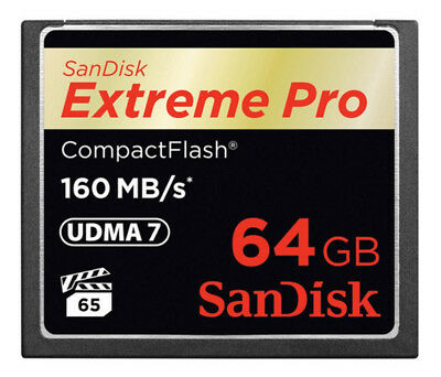 Sandisk 64GB Extreme Pro CF 160MB/s 64GB CompactFlash Memory Card - 64 GB, 160 M