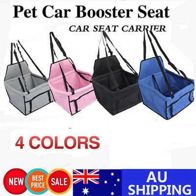 Foldable Car Booster Seat Puppy Cat Dog Auto Carrier Travel Protector Belt Bag