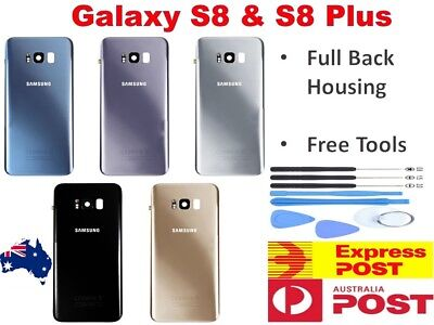For Samsung Galaxy S8 S8+ Plus Back Glass Housing Battery Cover Case Replacement