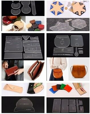 Leather Craft Acrylic Coin Purse Keyring Should Bag Pattern Stencil Template