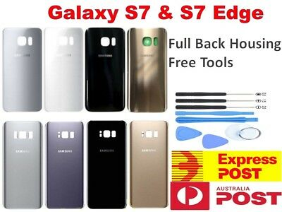 OEM Samsung Galaxy S7 & S7 edge Back Rear Glass Housing Battery Cover Case