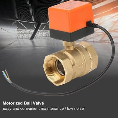 G2 DN50 2-Way 3-Wire Brass Water Electrical Motorized Ball Valve Durable AC 220V
