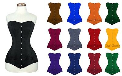9836e119aed Heavy Duty Double 26 Steel Boned Over Bust Long Line Training Cotton Corset