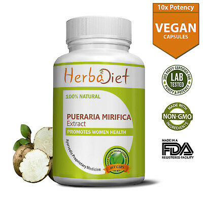 Pueraria Mirifica Extract Capsules PURE Natural Breast Enlargement Bust Firming
