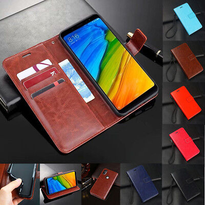 For Xiaomi Redmi Note 7 6 Pro Shockproof Magnetic Flip Wallet Leather Case Cover