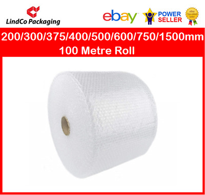 Bubble Wrap 200/300/375/400/500/600/750/1000/1500mm - 100 Metre Roll SYDNEY ONLY