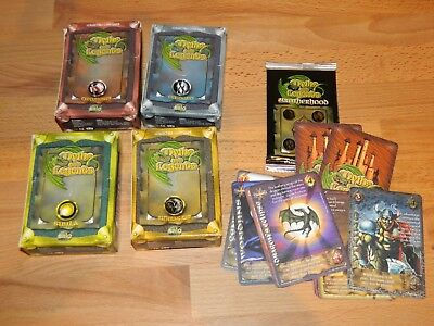 Myths and Legends salo CCG: 1 booster + 4 starter sets, card game