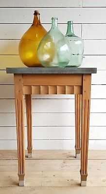 A vintage French faux slate top side table / chopping block