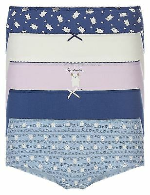 Ex M&S Ladies / Womens 3 Pack Cotton Rich Low Rise Shorts Knickers
