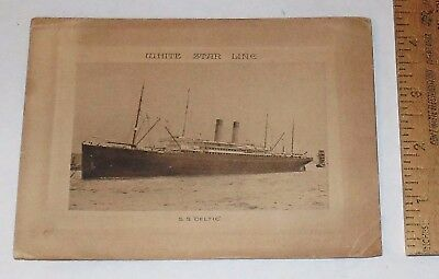 """1922 WHITE STAR LINE - S.S. """"CELTIC."""" - ABSTRACT OF LOG - August 1922"""