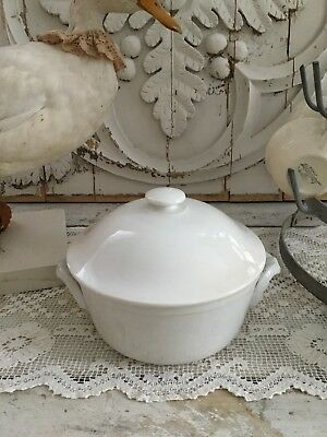 Antique French Cream Digoin & Serreguemines Stoneware Tureen