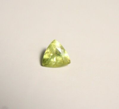 0.54ct Madagascan Sphene - Lovely Vibrant Titanite Trillion Gem