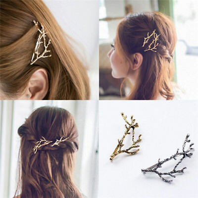 Celebrity Metal Tree Branch Hairpins Gold Silver Hair Clip for Lady Bobby Pin Qg