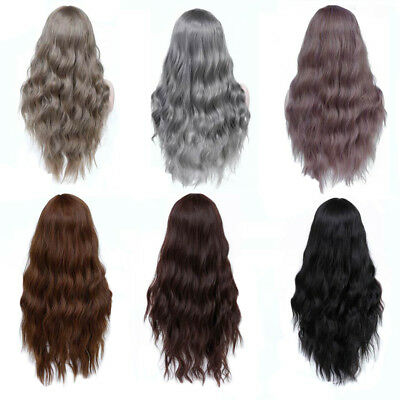 Women Fashion Cosplay Long Wig with Bangs Curly High Temperature Fiber Hair Call