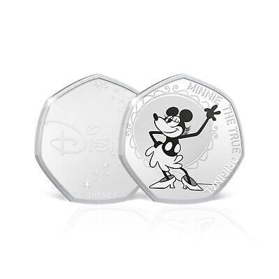 Minnie Mouse Disney Gifts 50p Shaped Collectable Coin - Plane Crazy Minnie