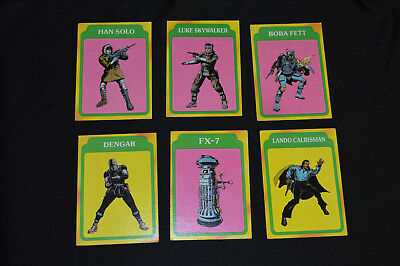 1980 STAR WARS The Empire Strikes Back Lot of 6 Cards Hans Solo, Skywalker +
