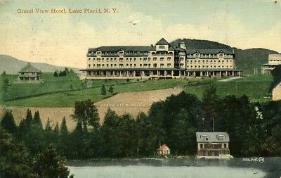 Grand View Hotel, Lake Placid, NY., postmarked 1913
