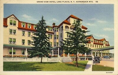 Grand View Hotel, Lake Placid, NY., postmarked 1937