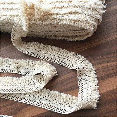 1Yard Cotton Tassel Trim Fringe Fabric Garment Tablecloth DIY 4cm Width