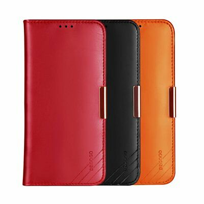 DZGOGO Royale II Calf Leather Wallet Case Cover for Apple iPhone XR