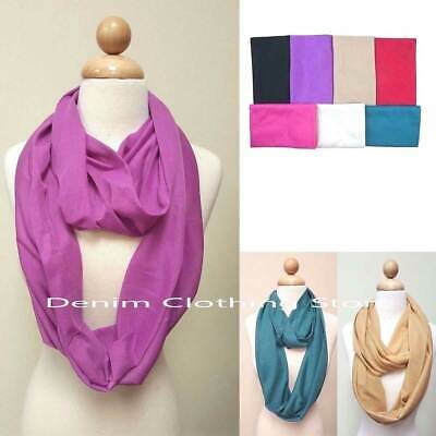 60pcs Women Girl Soft Scarf Solid Infinity Wrap Stole Winter Wholesale Lot Gift