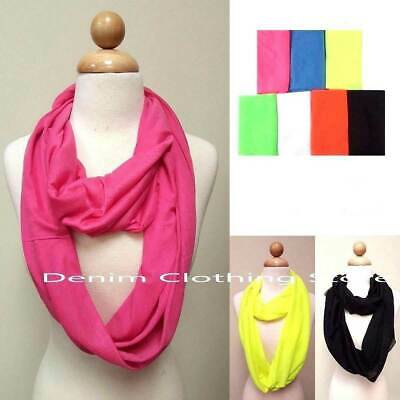 60pcs Women Girl Soft Scarf Solid Infinity Wrap Stole Winter Wholesale Lot Gifts