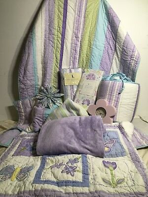 pottery barn kids brooklyn purple baby nursery 6 pc complete crib