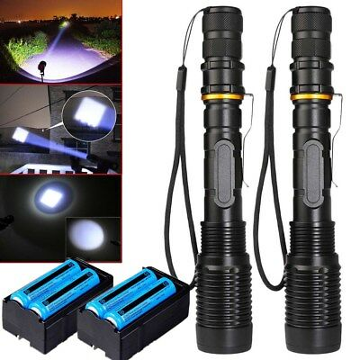 Police Tactical LED Flashlight 90000Lumens T6 5Modes Aluminum Torch Zoomable USA