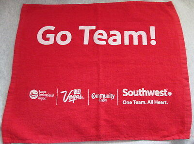 Southwest Airlines Towel Tampa Airport Go Team red  14x17