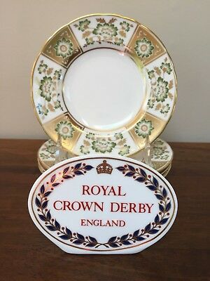 Royal Crown Derby DERBY PANEL Bread & Butter Plates (A) ~ Set of 4 ~ 2nd Quality