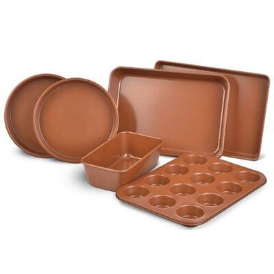 Eternal 6 Piece Nonstick Bakeware Set Ceramic Infused Copper New In Box