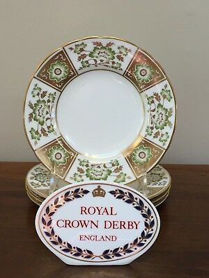 Royal Crown Derby DERBY PANEL Bread & Butter Plates (C) ~ Set of 4 ~ 2nd Quality