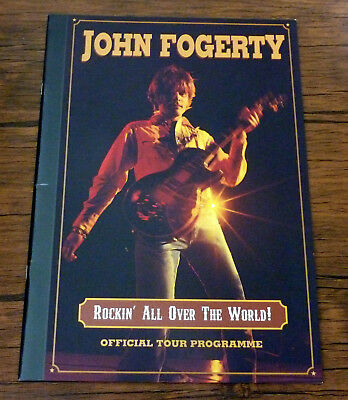 John Fogerty Official Tour Programme 20 Pages Rockin All Over the World