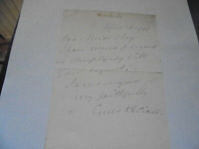 1900 Chichester, Handwritten, Signed Letter with Chichester (Blind Stamp) Letter