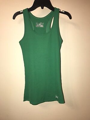 f43465be28c41 Under Armour Heat Gear Athletic Women s Ribbed Racerback Tank Top XS Green
