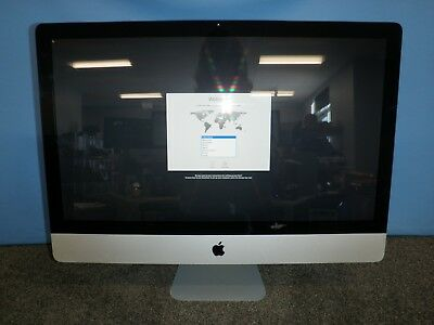 "Apple iMac Mid 2011 i7-2600 3.4GHz 16GB DDR3 1TB HDD SuperDrive 27"" High Sierra"