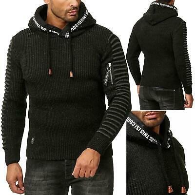 Redbridge Men s Knit Jumper Hooded Sweater Knit Sweater Slim-Fit Hoodie Is 48860bc86