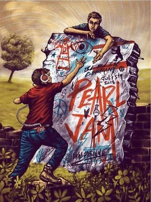 Pearl Jam Zeb Love Berlin Wall Germany Show Edition IN HAND Poster Print Art