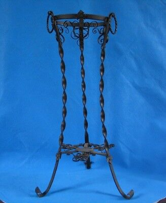 "antique wrought iron plant stand - 22-1/2"" tall"