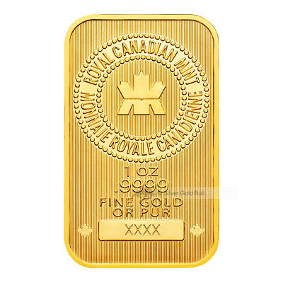 1 oz Royal Canadian Mint New Style Gold Bar