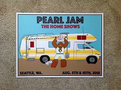 Pearl Jam Safeco Field Seattle Kevin Shuss Poster Print SIGNED AP VARIANT
