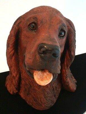Classic Critters Irish Setter Dog Figurine Sculpture Signed 1985 Big Red Hunter