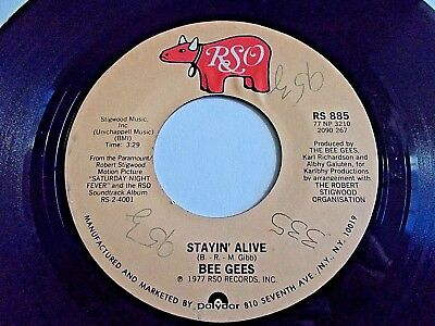 Bee Gees Stayin' Alive / If I Can't Have You 45 1977 RSO Vinyl Record