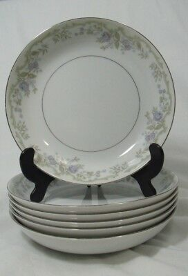 "Vintage Mikasa Laurel 7.5"" Coupe Soup Bowls Retired Narumi Japan Set of 6"