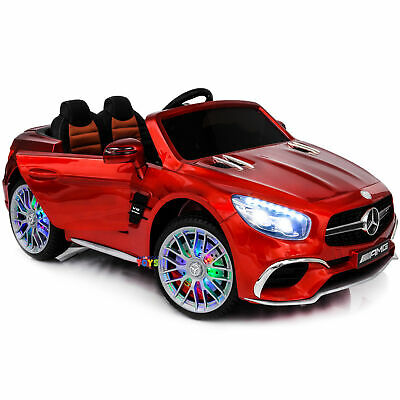 Ride On Car Electric Kids Toys Mercedes Remote Control MP4 Screen LED wheels Red