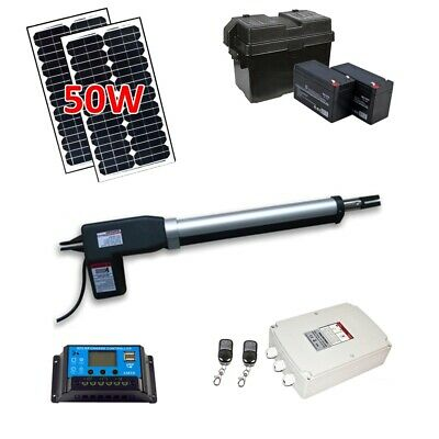 ALEKO Single Swing Gate Opener Operator Solar Powered AS600 Solar Kit