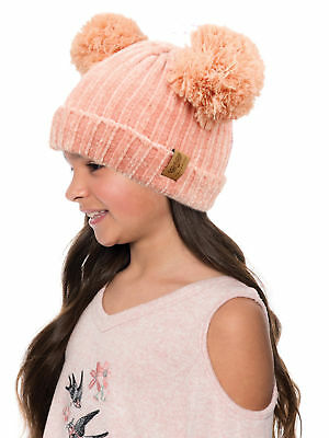 712ca72eb99c71 Emmalise Kid's Cute Fuzzy Animal Look Double Pom Pom Ears Beanie Winter  Knit Hat